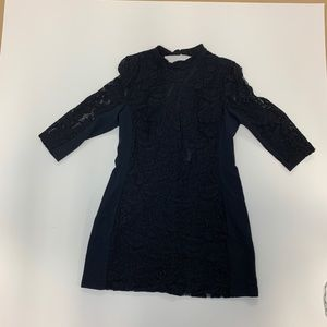 NWT Women's h&m black dress size 16